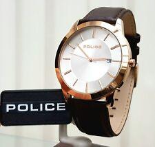 Brown leather Rrp£189 (Po116 Genuine Police Designer Mens watch