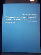 Fundamentals of Building Construction: Materials and Methods; 3rd Ed., PB 180223