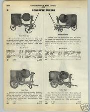 1930 PAPER AD Lansing Brand Concrete Mixer Trailer Type Cement Drum