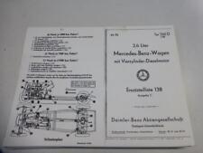 Ersatzteilliste 138 Mercedes Benz W138 260D 45PS Stand 1940