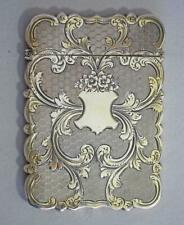 More details for stunning silver card case top quality antique sterling silver card case 1852
