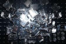 LEGO 50 x BRICKS CLEAR 1x2 TRANSLUCENT GLASS -WALL PANEL-WINDOW- No 3065 3004