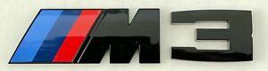 BMW M 3 Emblem Schwarz Glanz Abzeichen Logo Zeichen Heckklappe Aufkleber NEU