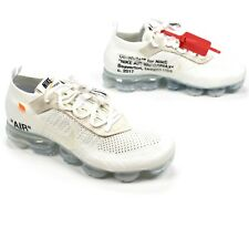 NWT Nike Off-White Virgil Abloh Air Vapormax FK White Sneakers 9.5 DS AUTHENTIC