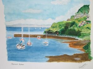 Original watercolour painting of Abersoch (Wales) Harbour