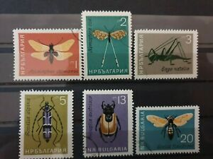 Bulgaria 1964 Insects. 6 stamp set CTO