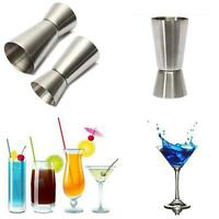 25/50ml Kitchen Stainless Steel Cocktail Jigger Double Shot Measuring Cup LI