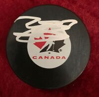 MARK SCHEIFELE SIGNED TEAM CANADA Puck NHL STAR WINNIPEG JETS AUTOGRAPHED