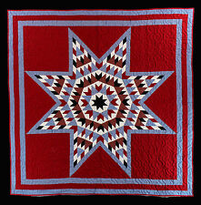 Unique style strip Lone Star Scrap design - FINISHED QUILT READY TO BE LOVED !!
