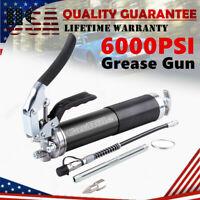 "6000 PSI Grease Gun 400cc 14Oz Pistol Grip Handle with 12"" Flex Hose Heavy Duty"