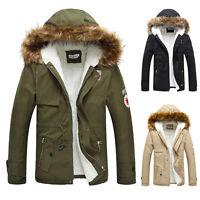 XS- 2XL Longue veste de Sweat Homme capuche parka manteau d' HIVER CHAUD