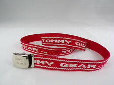 "Vintage Tommy Hilfiger Gear Web Belt Red With White TOMMY GEAR Fit up to 46"" EUC"