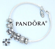 Pandora Charm Bracelet Authentic Silver Heart European Bead Charms Lobster Clasp