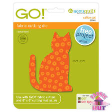 Accuquilt GO! Fabric Cuter Die Calico Cat Quilting Sewing 55065