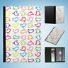 RAINBOW BIRD ANIMAL PATTERN #1 FLIP PASSPORT WALLET ORGANIZER COVER HOLDER