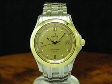 Omega Seamaster 18kt 750 Gold/reloj hombre de acero inoxidable con fecha/ref 168.1501