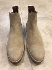 COMMON PROJECTS Suede Chelsea Boots, Light Brown, 43 EU 10 US, $530