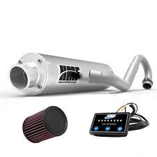 HMF Performance Full System Exhaust Brushed + EFI Optimizer + K&N Outlander 650