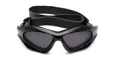 New Airsoft Metal Mesh Lens Black Shooting Goggle