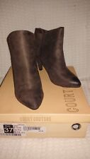 Ladies suede ankle boots – Taupe size 37