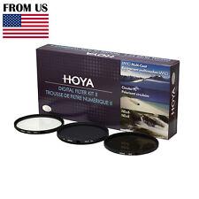 HOYA 55mm Digital Filter Kit Set: HMC UV, CPL/Circular Polarizer, NDx8 , & Pouch