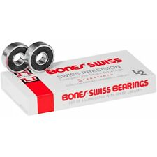 Bones Swiss Bearings Black 7 Ball - Pack of 8 + Free Sticker