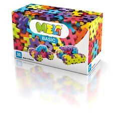 Meli Basic 50 Kreativ-Bausteine für kleine Hände Spielzeug für Kinder ab 3 Jahre