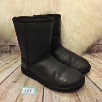 Junior UGG Australia Classic Short Pull On Ankle Winter Boots UK 3.5 EUR 36 US 5