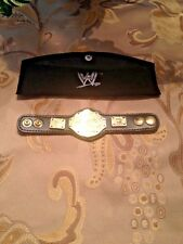 2 Authentic Replica micro WWE World Heavyweight & Undisputed leather belts 6in