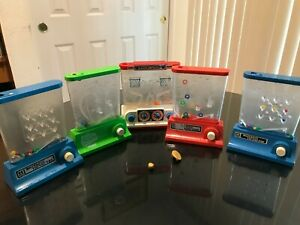 Vintage Water Games Tomy Ring Toss Tic Tac Toe Basketball Water Games Lot Of 5