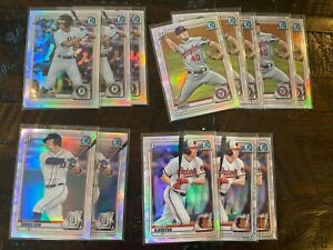 2020 Bowman Draft Chrome Refractor Ref Parallel PICK YOUR PLAYER COMPLETE SET