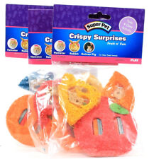 3 Packs Super Pet Crispy Surprises Fruit n' Fun Small Animal Toss Chew Activity