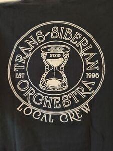 Trans-Siberian Orchestra Local Crew 2019 black men's cut style XL t-shirt