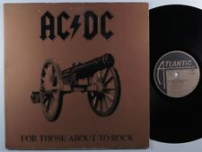 AC/DC For Those About To Rock ATLANTIC LP gatefold ~