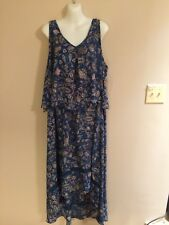 Women's Boutique Paisley Multi-Color Sleeveless V-Neck Dress    Size 2X      NWT
