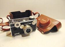 Vintage Argus C-3 Camera With Case & Book 35MM Hand Wind Works Rangefinder