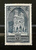 France 1929 *** Cath de Reims *** Y&T N° 259a Neuf ** Gomme d'Origine  TTBE