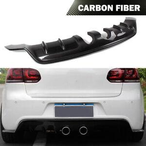 Carbon Fiber Rear Bumper Diffuser Lip for Volkswagen VW Golf VI MK6 R20 12-14