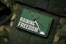 Raining Freedom Forest Green 3D PVC Morale Patch Moeguns AC-130 Spectre Spooky