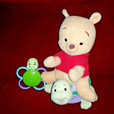 Fisher Price RATTLE 'N RIDE POOH Winnie the Pooh 12in On Turtle WITH RATTLE 2005
