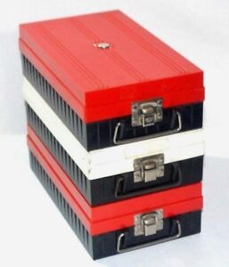 Nielsen / Zephyr Slide Storage Box Case Organizer Duofile Photography 3 Lot Rare
