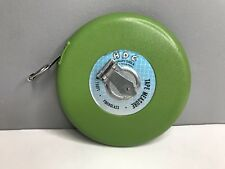 Vintage HDC Quality Tools 100Ft / 30M Reel Tape Measure Green Fiberglass Crank