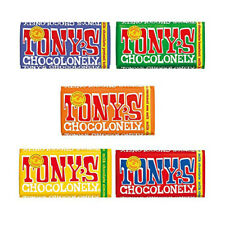 Tony's Chocolonely Chocolate 180g - 5 Pack, Mix of All 5 Milk Chocolate Flavours