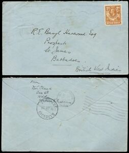 NORTHERN RHODESIA 1936 2d COVER to ST JAMES BARBADOS