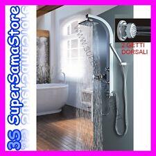 3S Designer Duschpaneel silber Duschsäule Massagedüsen VENUS mit Stabhandbrause