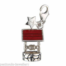 Tingle Wishing Well clip on Sterling Silver Charm with Gift Bag and Box