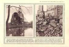 1915 Wrecked Chateaux Hartmannsweilerkopf Alsace