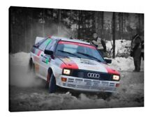 Audi Quattro 30x20 Inch Canvas Art - Framed Picture Group B Rally Print