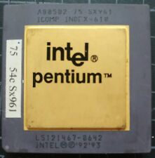 INTEL A80502-75 SX961 L5121467-8642, PENTIUM 75MHZ CPU PROCESSOR Gold Ceramic