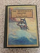 1929 THE MYSTERIOUS ISLAND JULES VERNE ILLUSTRATED BY WYETH HC VINTAGE